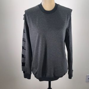 Lucca Couture Crewneck Cut-Out Sleeved Pullover